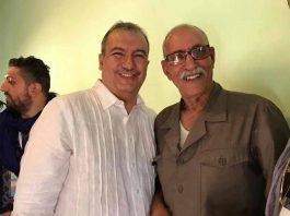 Doctor Jorge Fernández y el Presidente Brahim Ghali